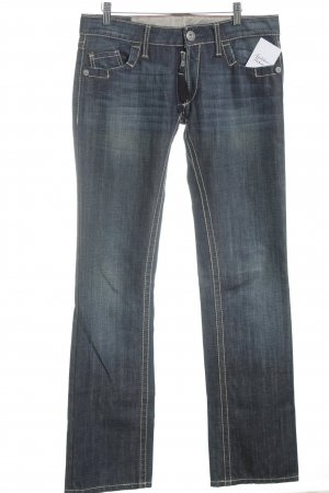 Francois Girbaud Straight-Leg Jeans blau Washed-Optik