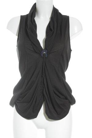 Francois Girbaud Volanttop schwarz-dunkelblau extravaganter Stil
