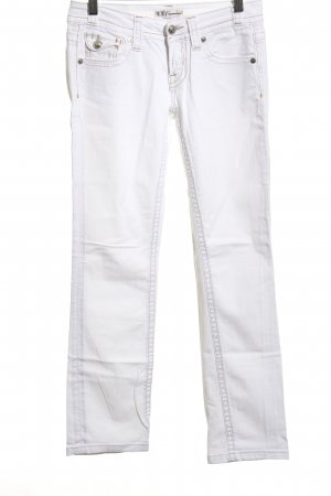 Francomina Slim Jeans weiß Casual-Look