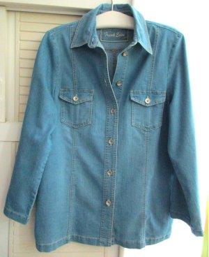FRANK EDEN - Blaue Damen Jeansjacke Jeans Jacke blau, Gr. 48