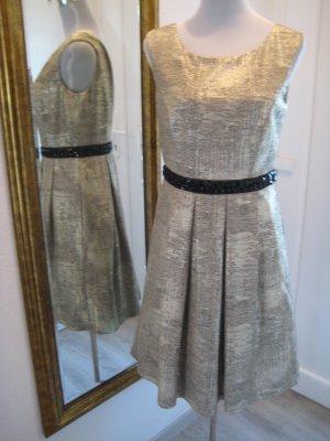 Frank Lyman Designer Kleid Gold Schwarz Neu Gr 36/38