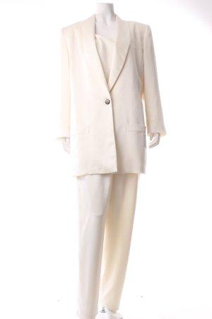 Frank Usher Tailleur-pantalon crème produits rétro