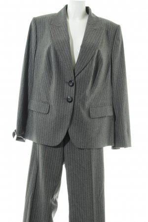 Frank Walder Business Suit light grey-white striped pattern business style