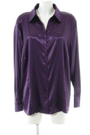 Frank Walder Glanzende blouse lila zakelijke stijl