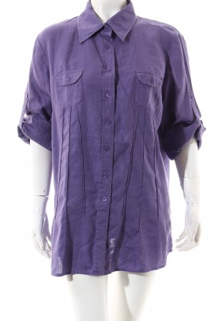Frank Walder Short Sleeve Shirt lilac casual look