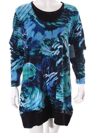 Frank Walder Longshirt abstraktes Muster Casual-Look
