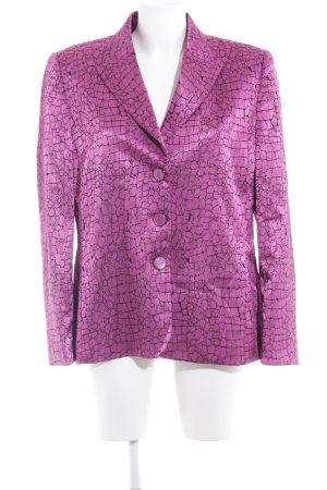 Frankenwälder Kurz-Blazer pink-schwarz abstraktes Muster extravaganter Stil