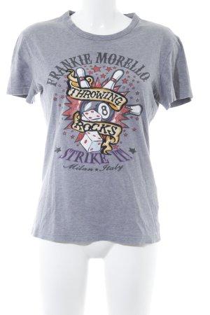 Frankie Morello T-Shirt Motivdruck Street-Fashion-Look