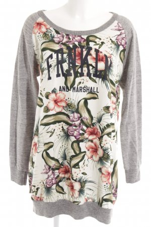 Franklin & marshall Long Sweater flower pattern casual look