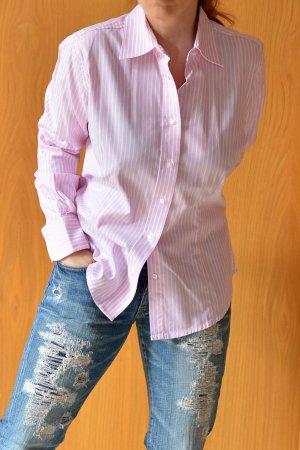 Frankonia Highmoore Oxford Bluse 38/40 gestreift rosa weiß wie Neu Hemdbluse Hemd