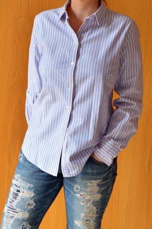 Frankonia Highmoore Oxford Bluse 38 40 rosa Punkte weiß blau gestreift Hemd Hemdbluse Boyfriend Streifen Maritim