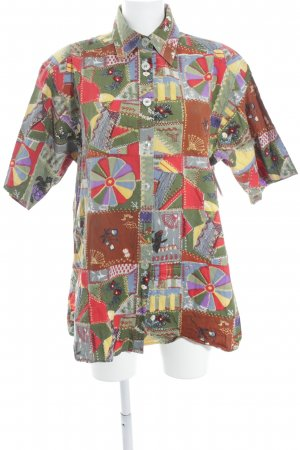 Frankonia Short Sleeve Shirt abstract pattern patchwork look