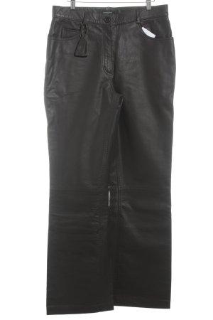 Frankonia Pantalon en cuir brun rouge style mode des rues