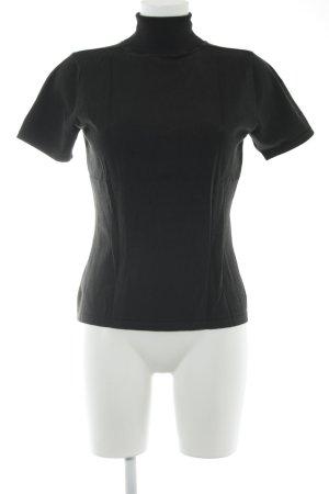 Frankonia Camisa tejida negro look casual