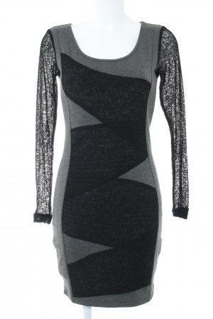 Fransa Falda estilo lápiz negro-gris claro look casual
