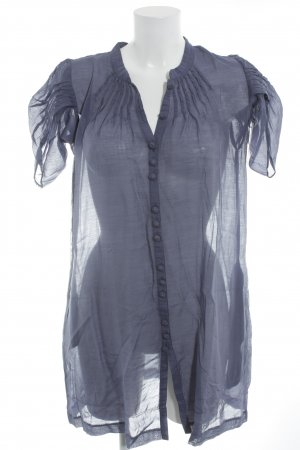 Fransa Blusenkleid blauviolett Transparenz-Optik