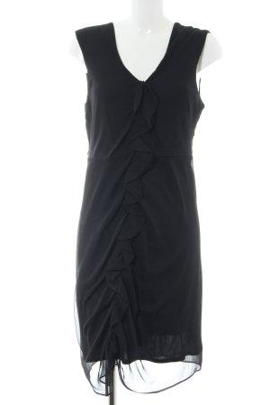 Fransa Chiffonkleid schwarz Elegant