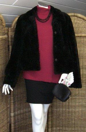 Fransa festliche Jacke Webpelz schwarz XL