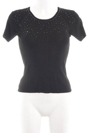 Fransa Camisa acanalada negro look casual