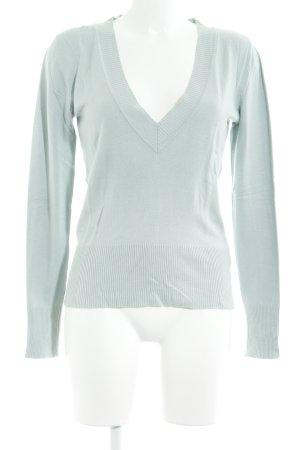 Fransa V-Ausschnitt-Pullover graugrün Casual-Look