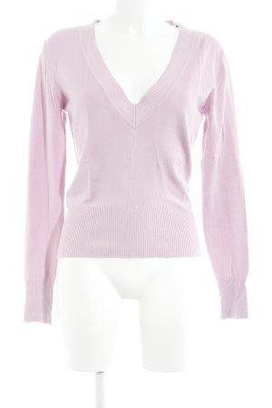 Fransa V-Ausschnitt-Pullover hellrosa Casual-Look