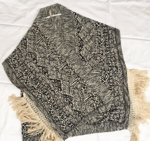 Please Knitted Cardigan black-natural white mixture fibre
