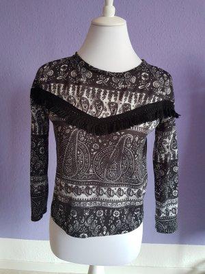 Tally Weijl Cropped shirt wit-zwart