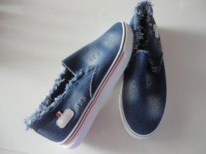 Fransen-Jeans-Sneaker in Gr. 39