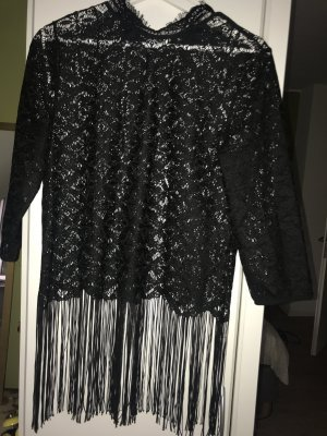 Zara Basic Top en maille crochet noir