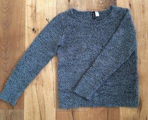 Fransen Pullover grau