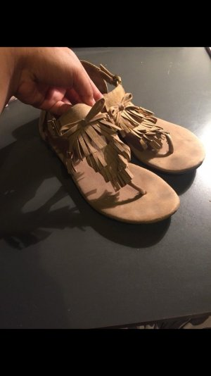 H&M Sandalias con talón descubierto beige