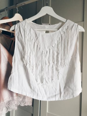 Fransen Shirt Sommer Nude Zara