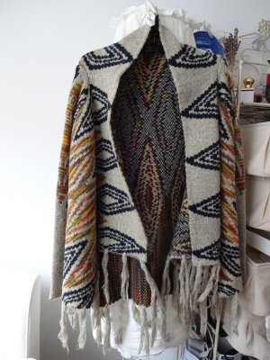 fransen Strickweste wolloptik aztekenmuster