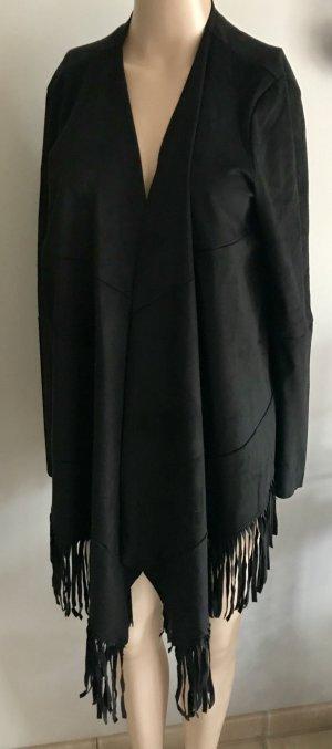 Laura Scott Faux Leather Jacket black