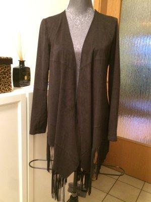 Fransenblazer in schwarz Größe S von Zara