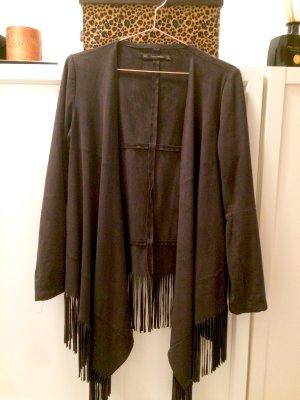 Fransenjacke in schwarz Größe S von Zara