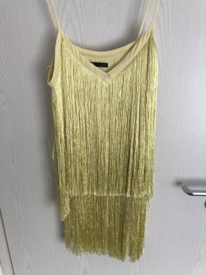 Zara Robe à bretelles jaune primevère