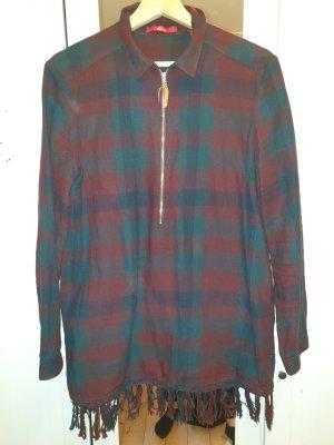 s.Oliver Abito blusa camicia bordeaux-petrolio