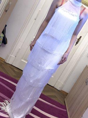 Robe à franges blanc