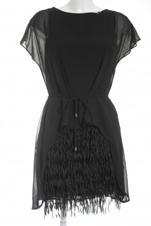 Fringed Dress black Fringe trimming