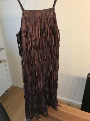 Vero Moda Fringed Dress grey lilac