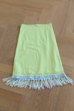 Fringed Skirt meadow green-baby blue