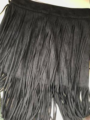 Zara Fringed Skirt black