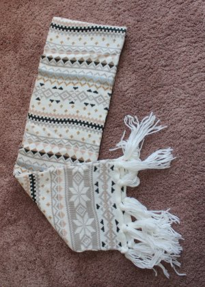 H&M Écharpe à franges blanc cassé-beige