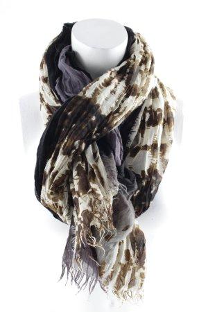 Écharpe à franges motif animal style minimaliste