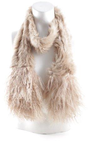 Fransenschal beige-sandbraun Mustermix extravaganter Stil