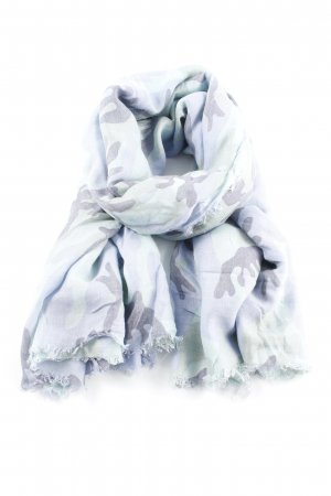 Sjaal met franjes camouflageprint Jaren 90 stijl