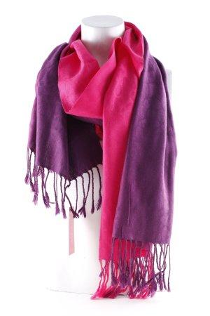 Sciarpa con frange viola scuro-fucsia neon Taglio frangia