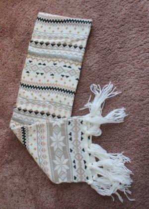H&M Bufanda de flecos blanco puro-beige