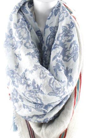 Écharpe à franges motif floral style décontracté